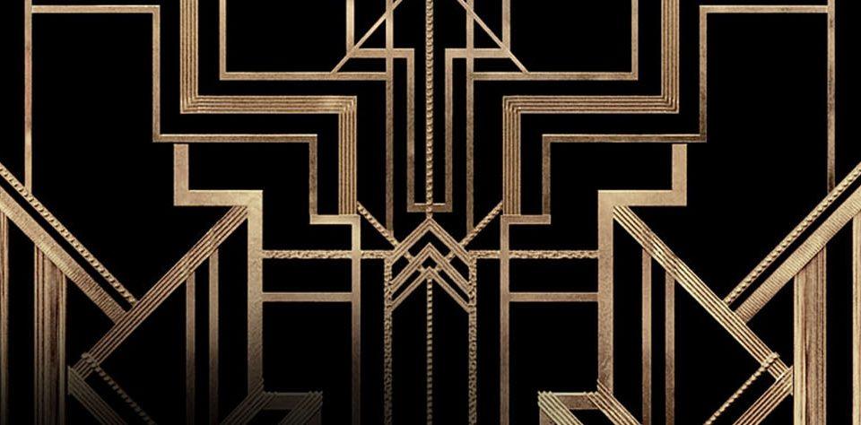 imagen de estilo gatsby trama colore negro y dorado