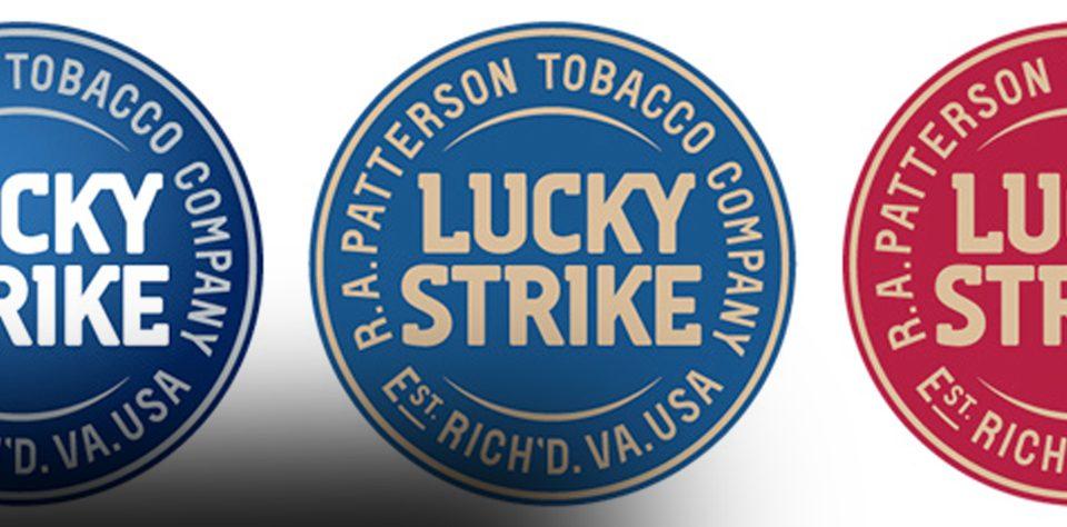 imagen logo circular de lucky strike rediseño de marca nueva imagen corporativa