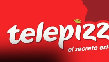 logotipo de la marca telepizza slogan el secreto esta en la masa