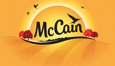 logo de patatas mccain rediseño del logo de la marca