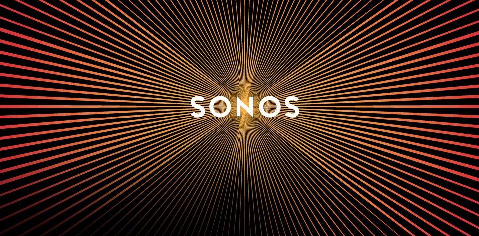 logotipo sonos el logotipo que vibra al hacer scroll