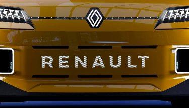 electrico, Renault, coche, logo, flat, R5
