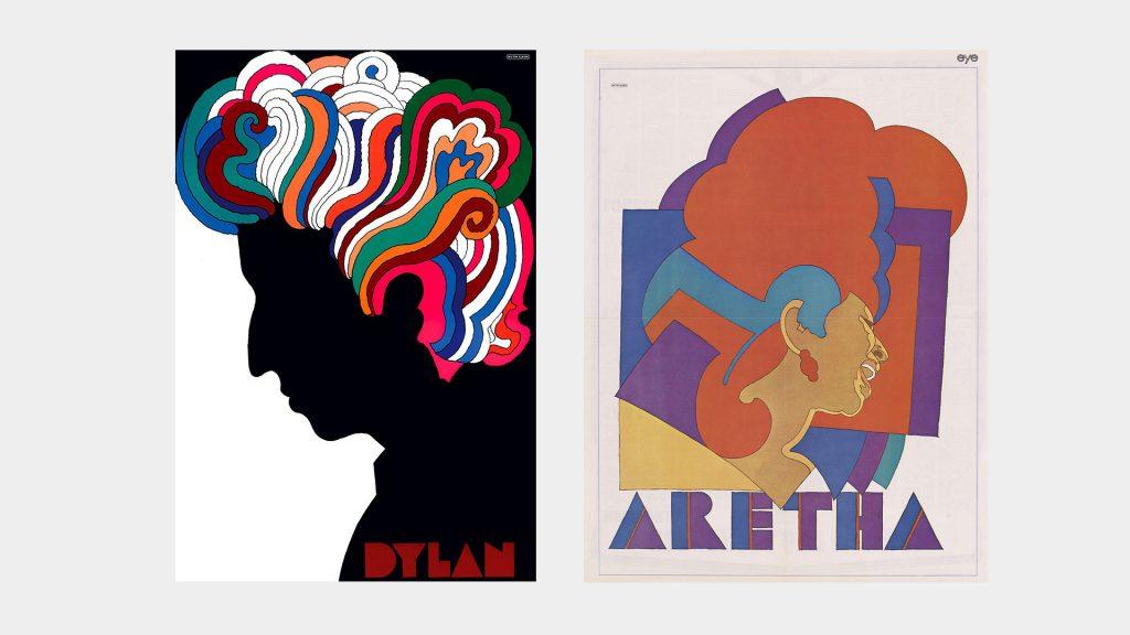Cartel Bob Dylan. Póster de Bob Dylan incluido en el disco Bob Dylan's Greatest Hits (1966). Milton Glaser, 'Aretha Franklin', 1968