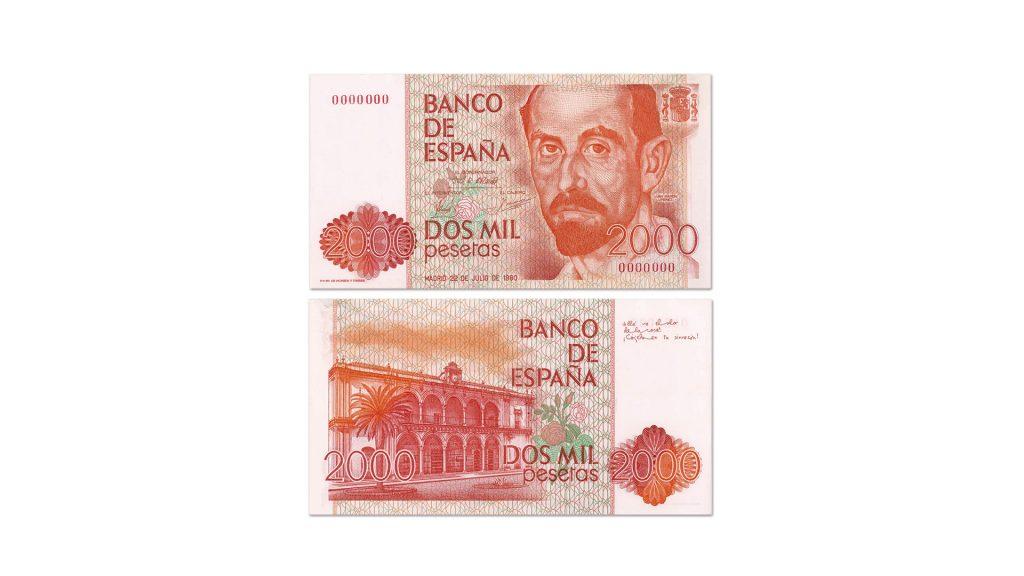 2000 pesetas Cruz Novillo