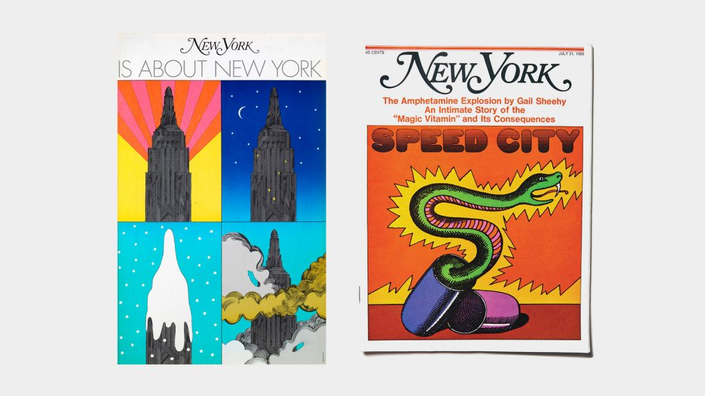 Portadas de The New York Magazine fundada por Milton Glaser y Clay Felker Felker en 1968.