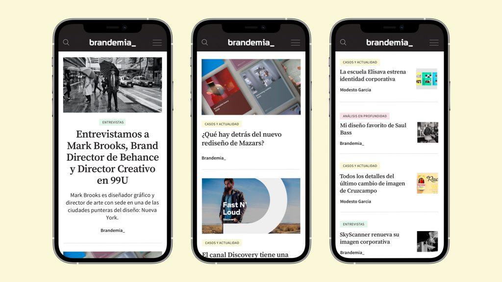 versión mobile nueva web brandemia