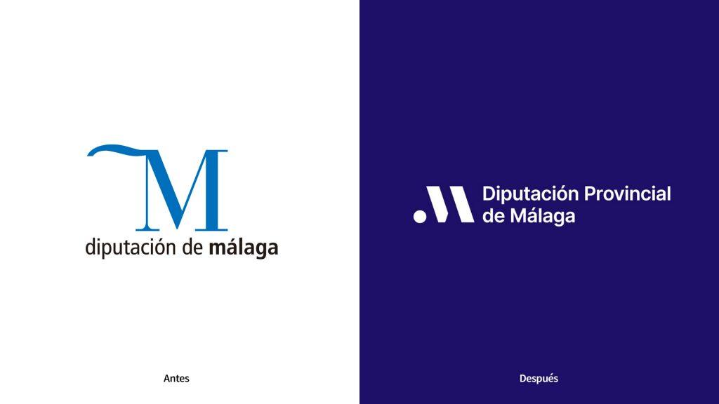 nuevo logo de la Diputación provincial de Málaga