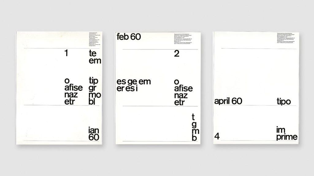 Diseño portadas estilo suizo por Yves Zimmermann