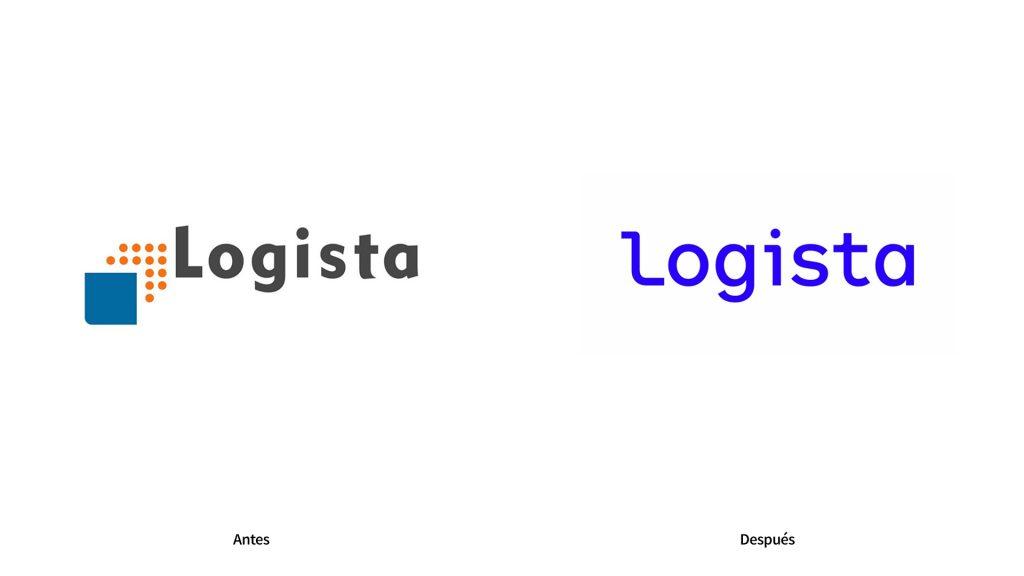 antes y despues rebranding logista
