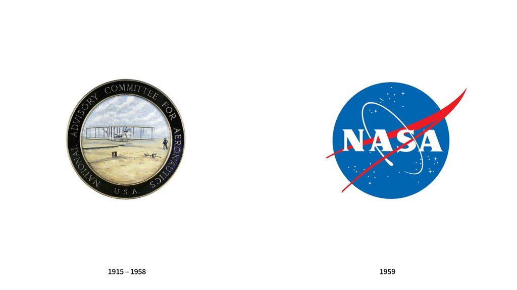 evolucion logo nasa