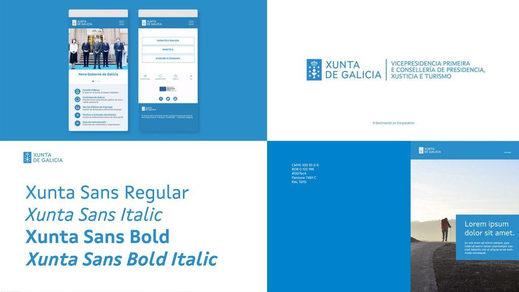 Así es el trabajo que redefine la identidad corporativa de la Xunta de Galicia realizado por Costa