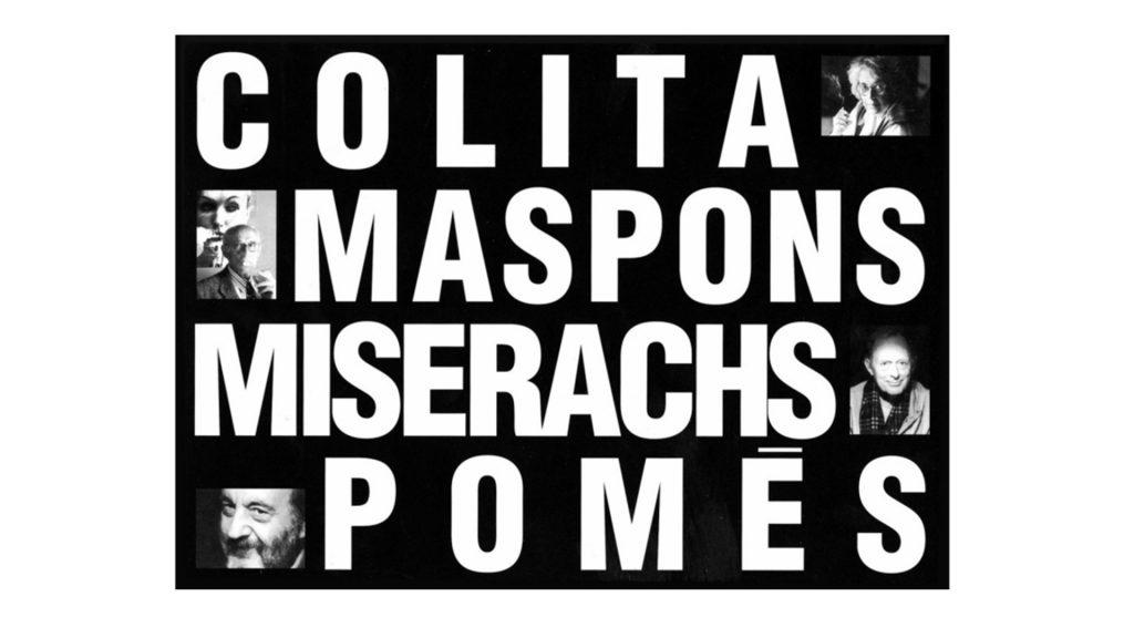 Cartel colita Maspons Miserachs Pomes