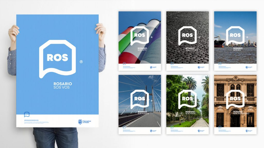 Carteles nueva marca ciudad de Rosario