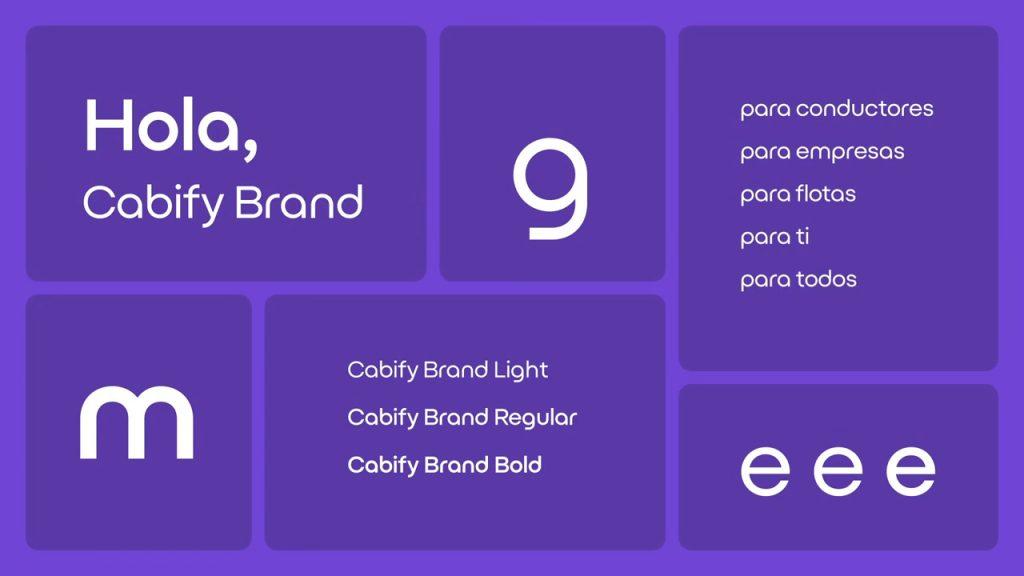 nuevo logo de Cabify 2021 y nueva tipografía de Cabify 2021