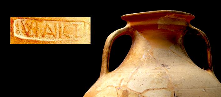 Protologotipo de una vasija de la Roma Clásica
