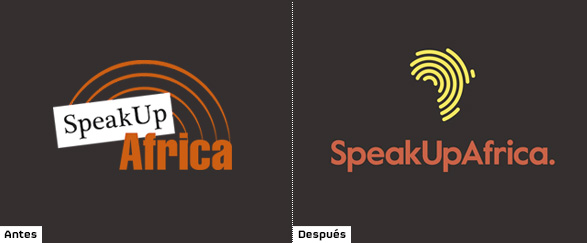 historia del logo de speak up africa