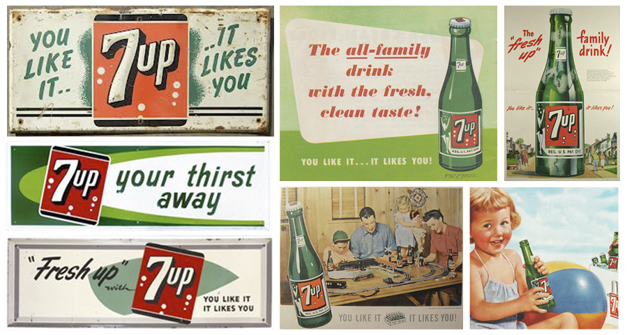 vintage 7up imagenes graficas
