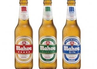 imagen de botellas de mahou clásica, mahou sin y mahou 5 estrellas