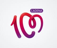 logo cadena 100 letra m con figura de corazón