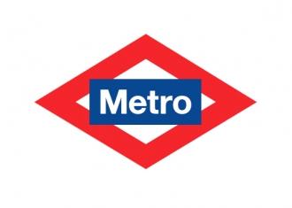 logo del metro o icono del metro, metro madrid logo vector