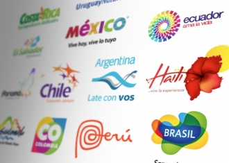 imagen de los logos de los países lationamericanos